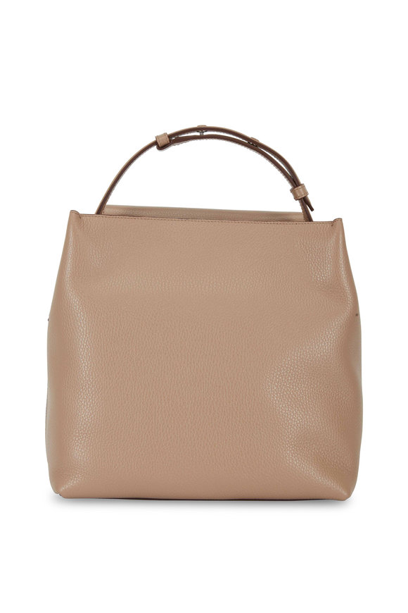Tod's New Joy Tobacco Leather Medium Tote Bag