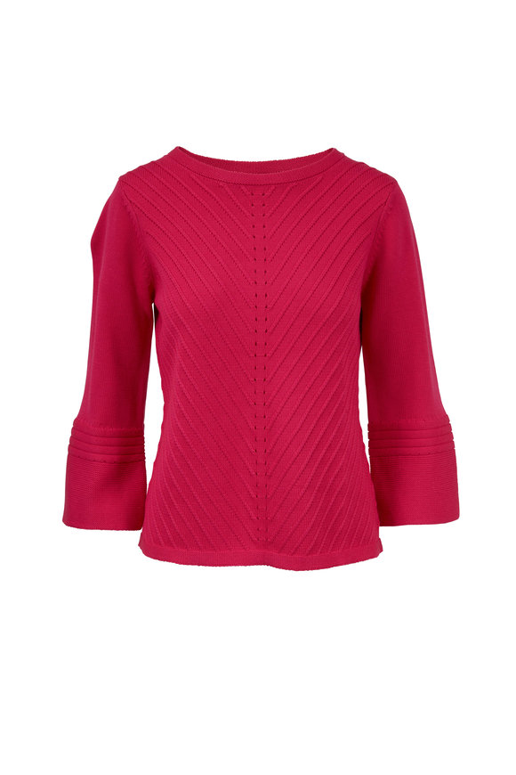 Raffi  Fuchsia Mixed Stitch Sweater