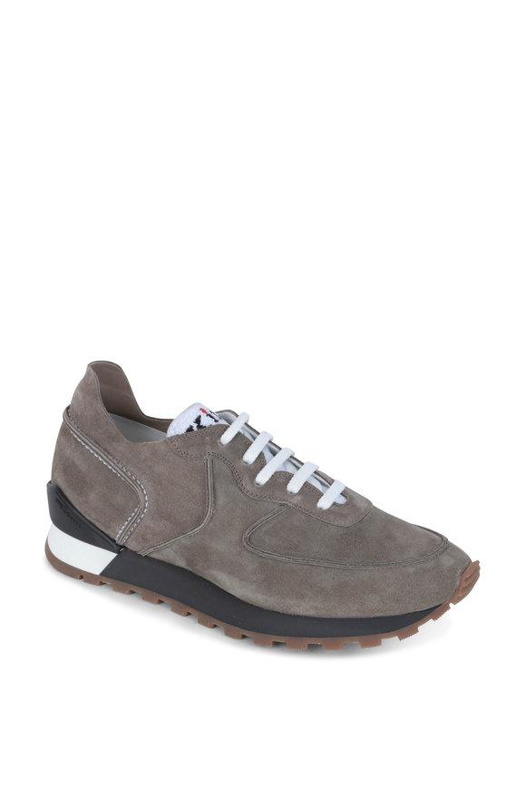 Kiton Sand Suede Sneaker