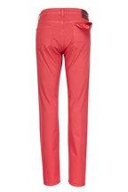 Isaia - Red Straight Leg Jean