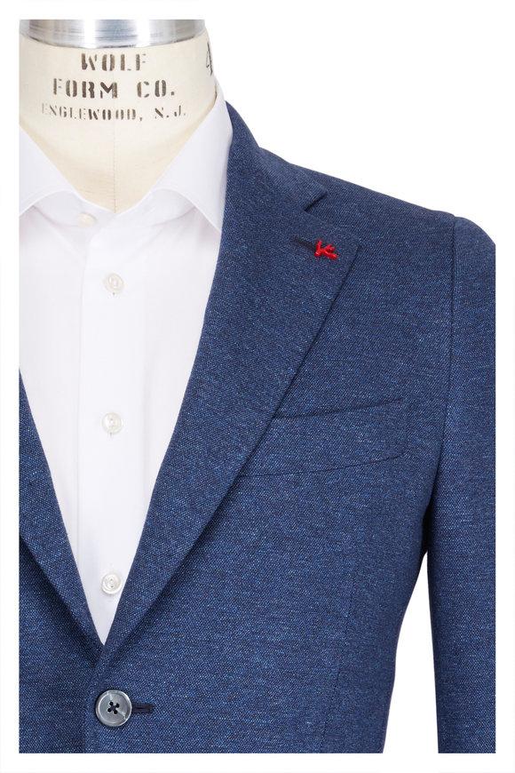 Isaia Navy Cotton Jersey Sportcoat