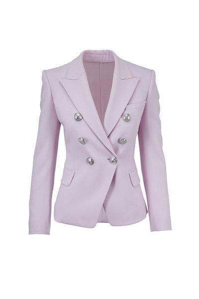 Balmain - Lilac Wool Double-Breasted Blazer