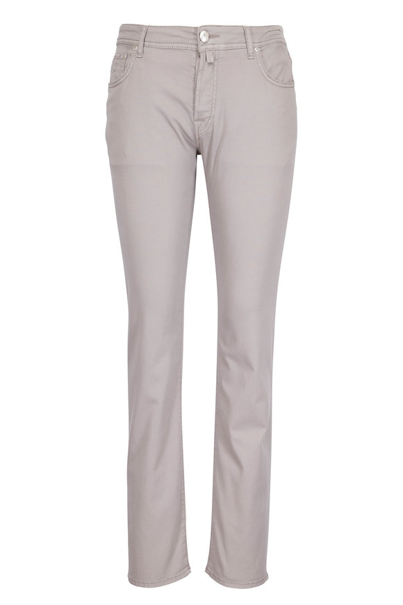 Jacob Cohen  Light Gray Five Pocket Jean