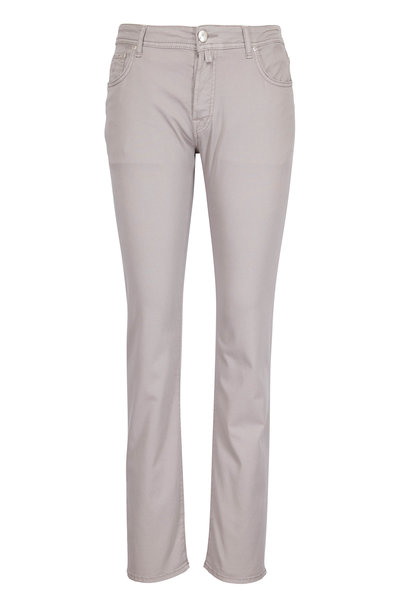 Jacob Cohen - Light Gray Five Pocket Jean