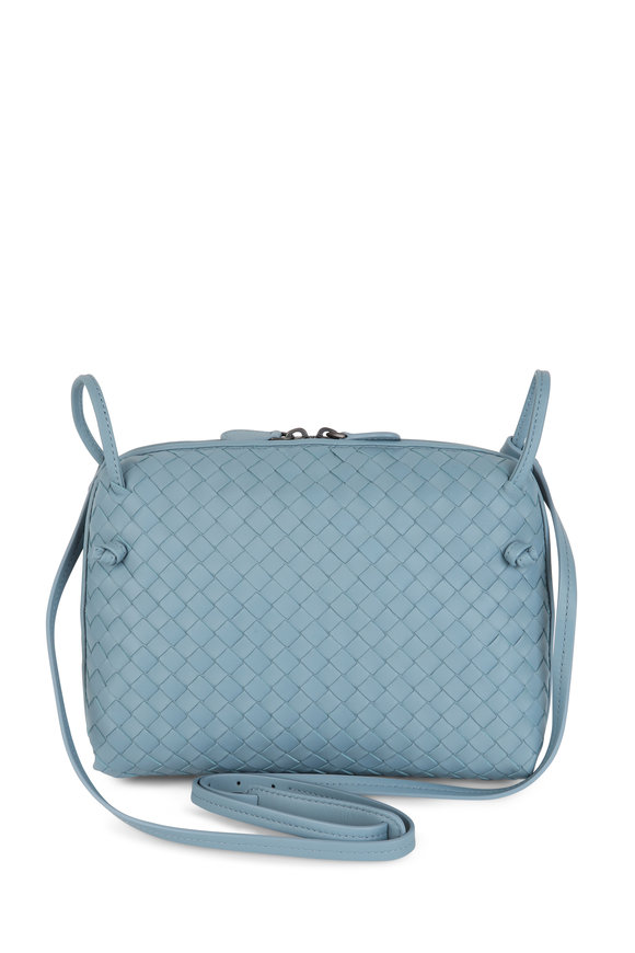 Bottega Veneta Pillow Soft Blue Intrecciato Small Crossbody