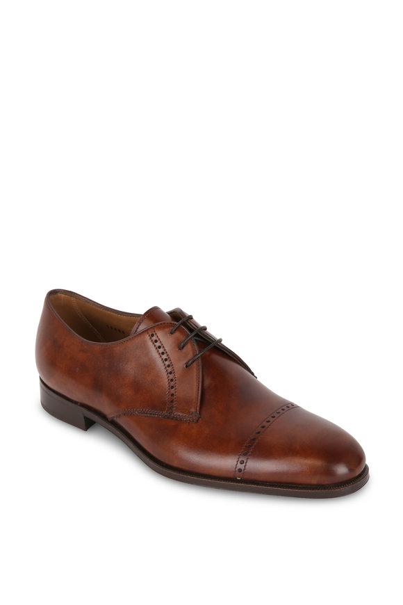 Gravati Dark Brown Leather Derby Dress Shoe