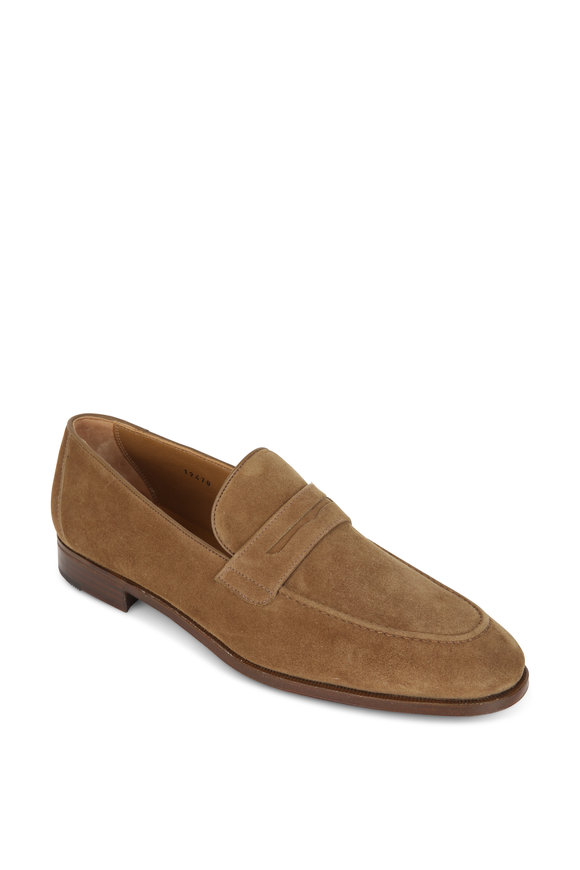 Gravati Medium Brown Suede Penny Loafer