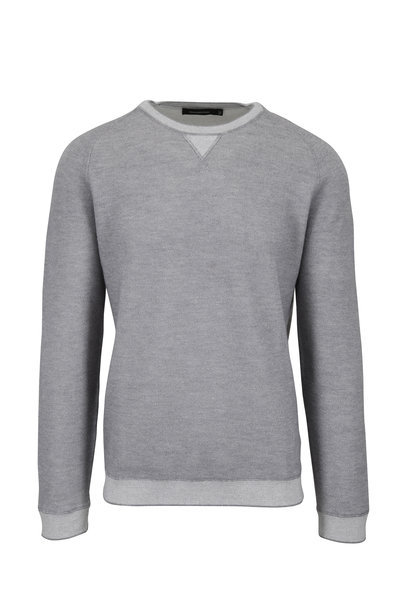 Ermenegildo Zegna - Light Gray Cotton & Cashmere Crewneck Sweater