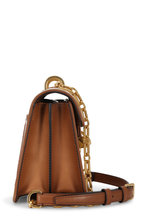 Valentino Garavani - Cognac Leather & Natural Straw Small Uptown Bag