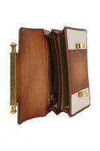 Valentino Garavani - Cognac Leather & Natural Straw Small Uptown Bag