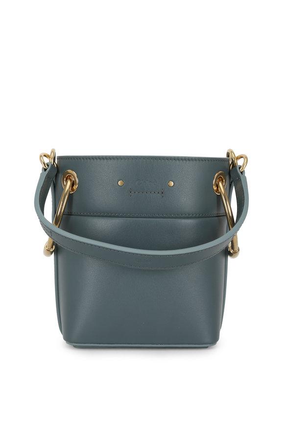 Chloé Roy Cloudy Blue Leather Mini Bucket Bag