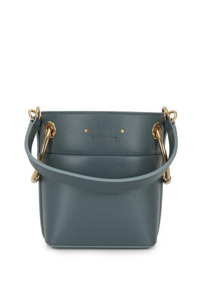 Chloé - Roy Cloudy Blue Leather Mini Bucket Bag