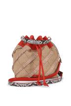 Jimmy Choo - Juno Natural Woven Raffia & Ayers Bucket Bag