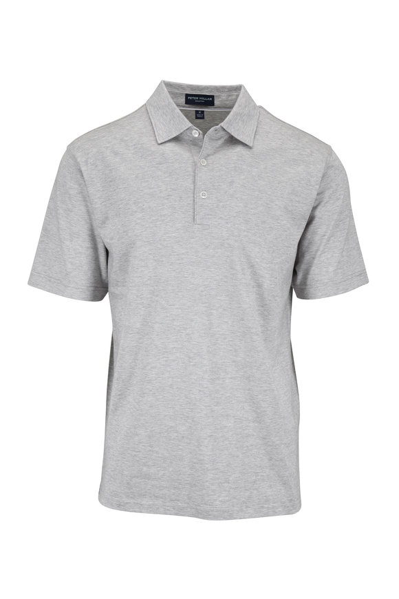 Peter Millar Excursionist Flex Light Gray Polo