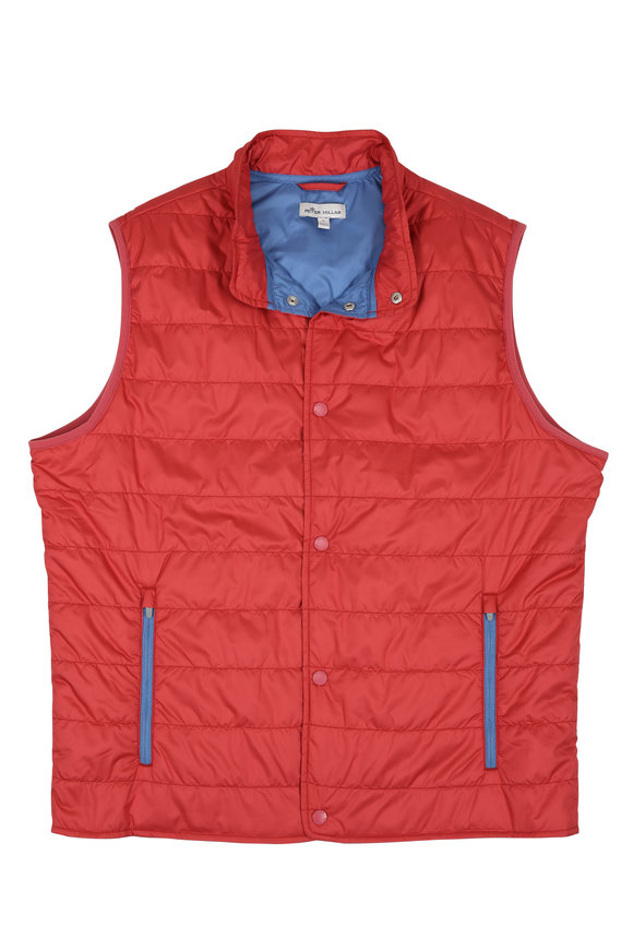 Peter Millar Hyperlight Red Quilted Vest