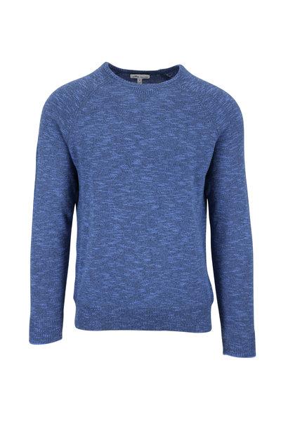 Peter Millar - Blue Overdyed Crewneck Sweater