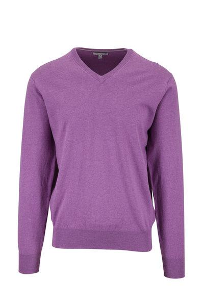 Peter Millar - Crown Soft Lavender Cotton V-Neck Pullover