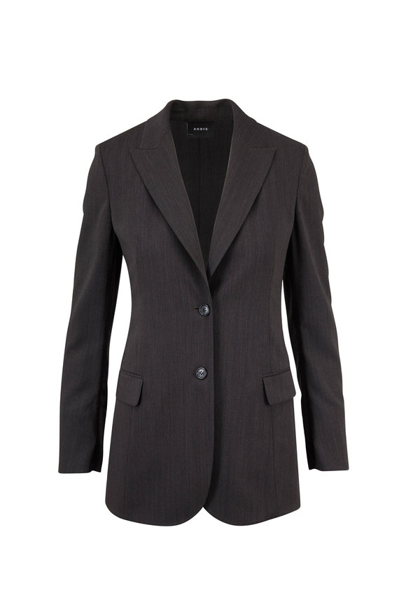 Akris Adam Magnet Wool Melange Jacket