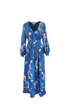 Borgo De Nor - Francesca Blue Vintage Floral Maxi Dress
