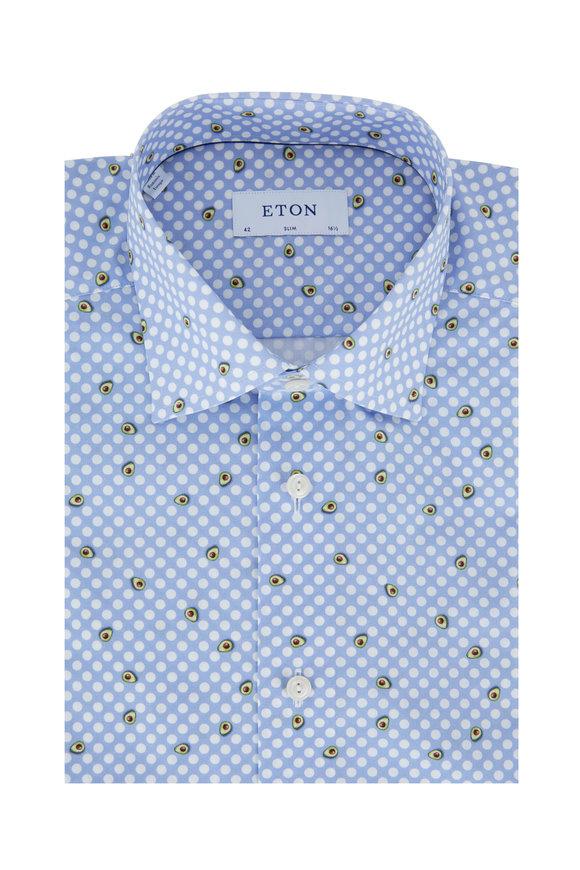 Eton Light Blue Avocado Slim Fit Dress Shirt