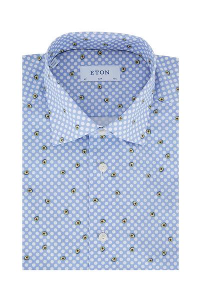Eton - Light Blue Avocado Slim Fit Dress Shirt