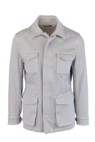 Kiton - Gray Washed Safari Jacket