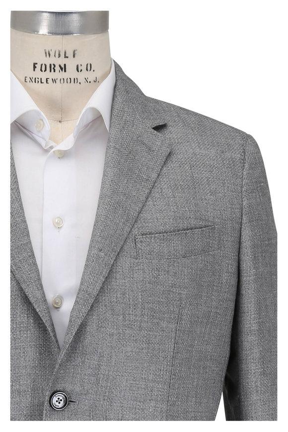 Ermenegildo Zegna Gray Linen, Alpaca & Silk Sportcoat