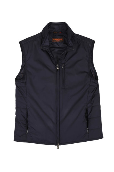 Waterville - Blue Quilted Back Vest