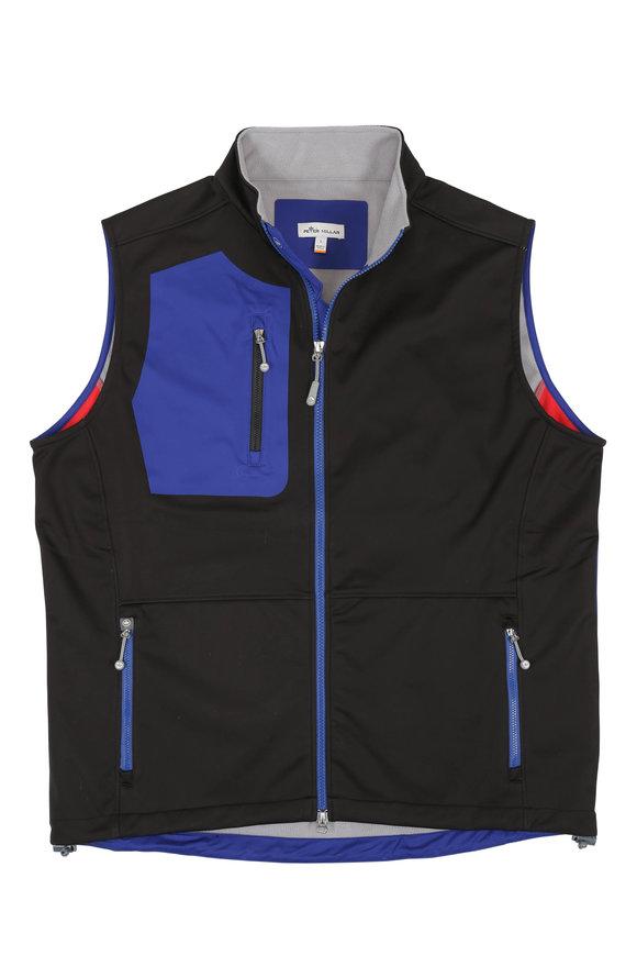Peter Millar Crown Sport Black & Blue Gale Force Vest