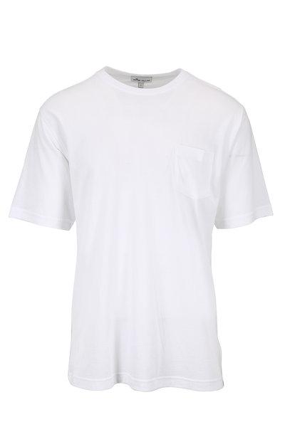 Peter Millar - Seaside Collection White Pocket T-Shirt
