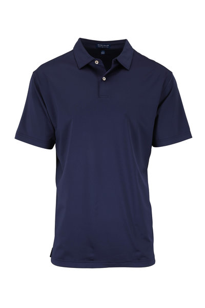 Peter Millar - Navy Stretch Jersey Tour Fit Polo