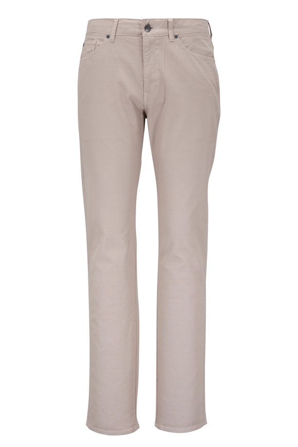 Peter Millar Crown Vintage Khaki Canvas Five-Pocket Pant