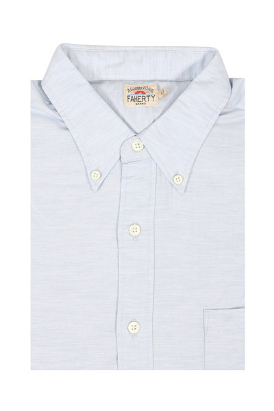 Faherty Brand - Light Blue Oxford Sport Shirt