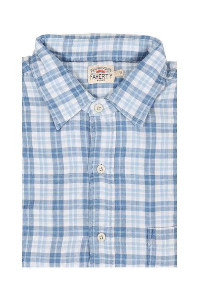 Faherty Brand - Indigo Plaid Cotton Sport Shirt