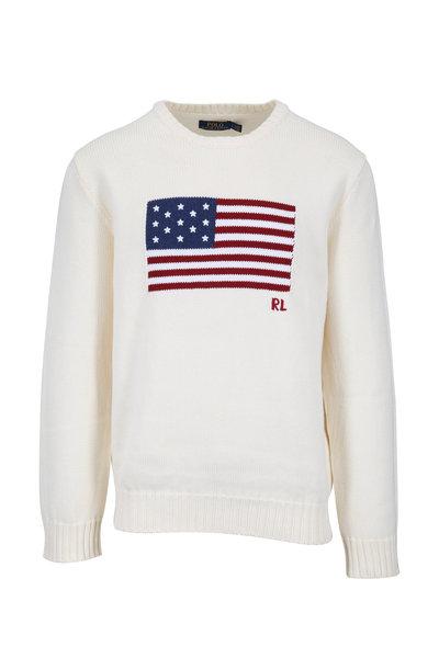 Polo Ralph Lauren - Cream American Flag Sweater