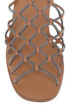 Brunello Cucinelli - Luggage Monili Cage Flat Sandal