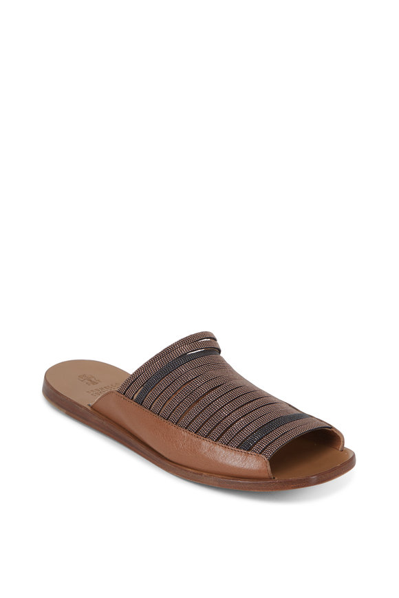 Brunello Cucinelli Luggage Multi Monili Strap Slide