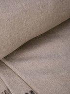 Brunello Cucinelli - Pebble Silk Bi-Color Fringe Trim Blanket