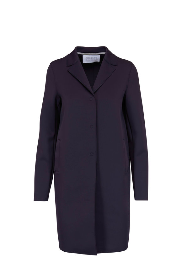 Harris Wharf Midnight Tech Single Breasted Coat