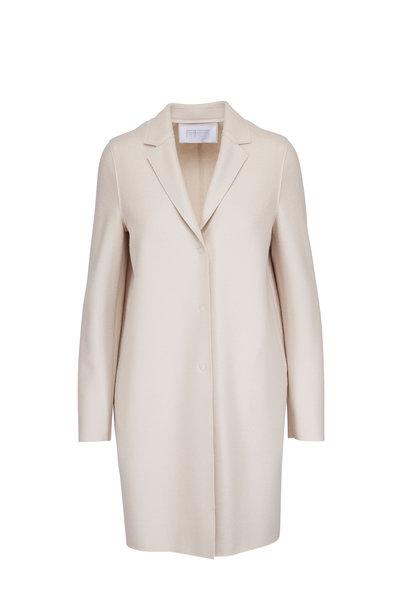 Harris Wharf - Cream Wool Single Breasted Cocoon Coat