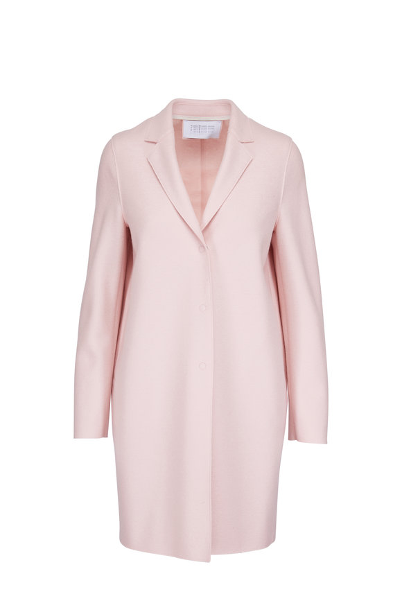 Harris Wharf Rose Wool Single Breasted Cocoon Coat
