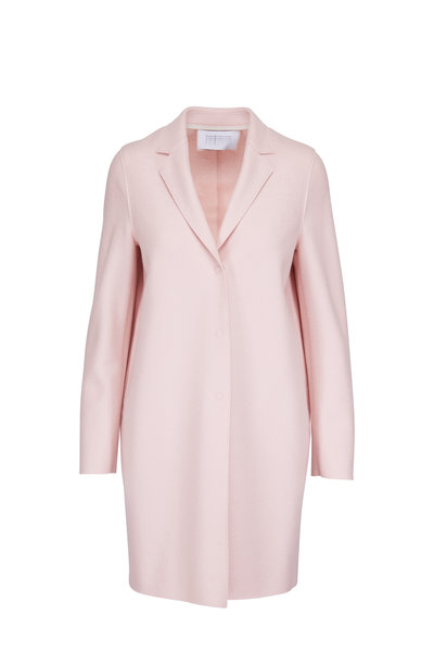 Harris Wharf - Rose Wool Single Breasted Cocoon Coat