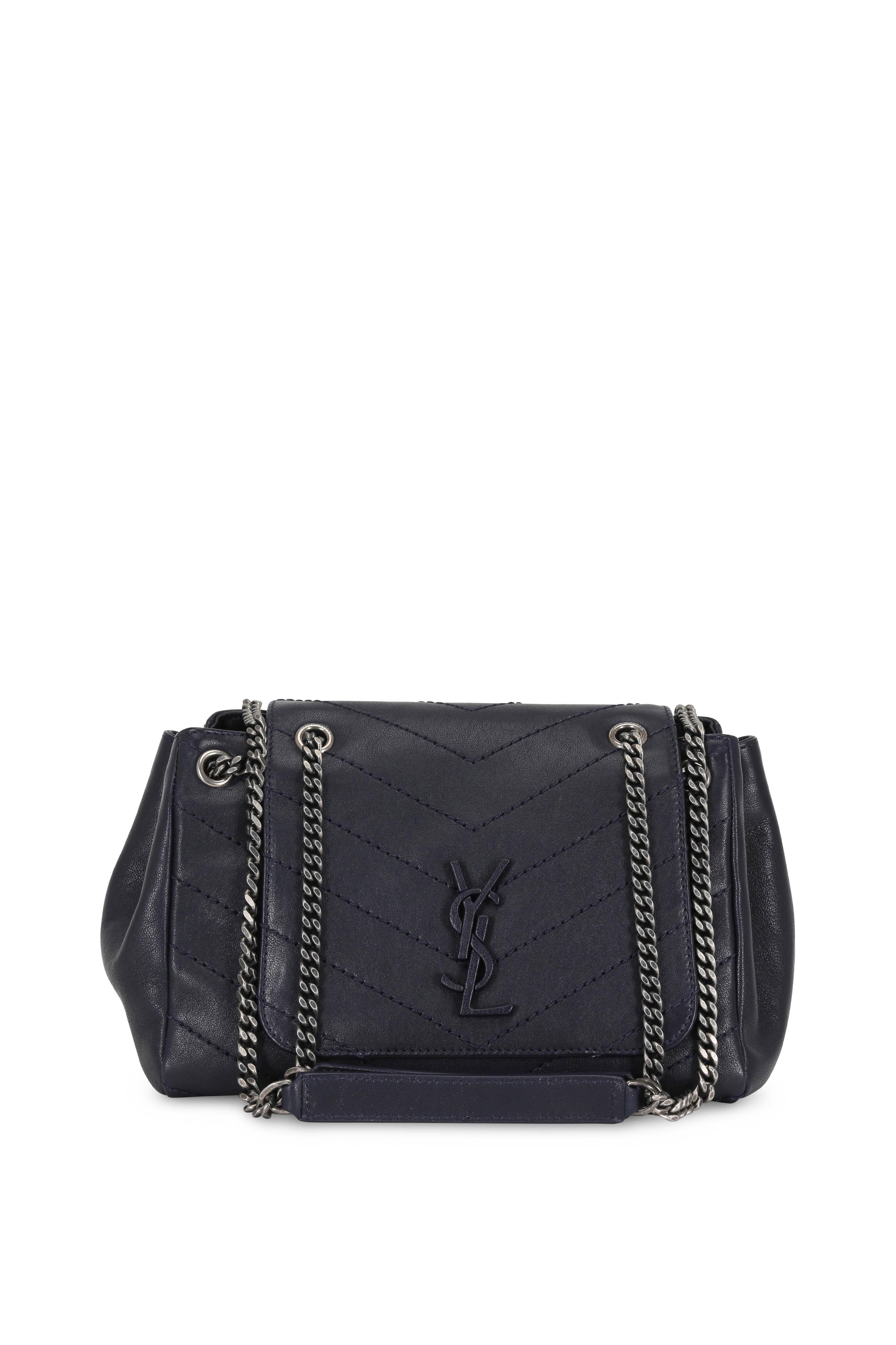 147d5305a1e6 Saint Laurent - Nolita Monogram Navy Blue Quilted Small Bag ...