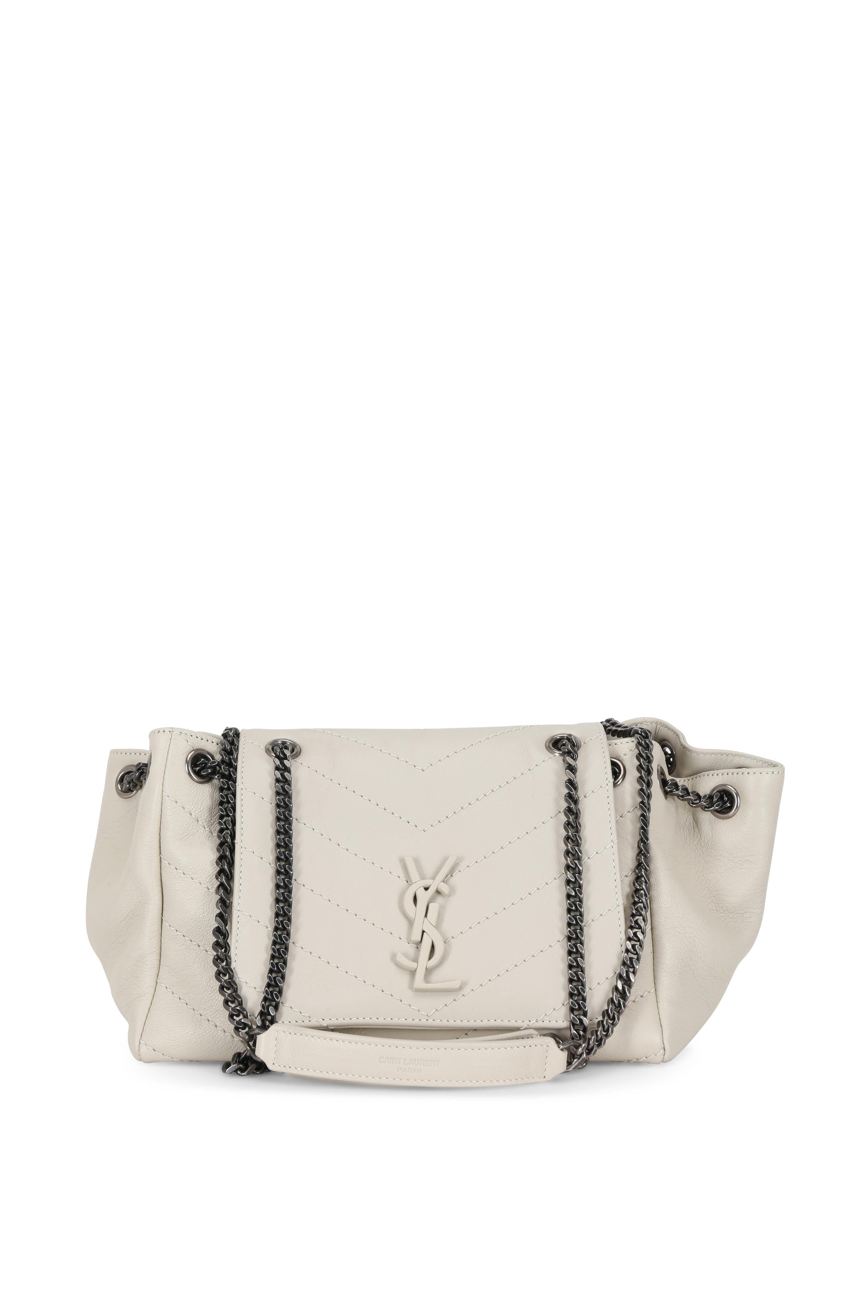 dd6e441f83 Saint Laurent - Nolita Monogram White Quilted Small Bag | Mitchell ...