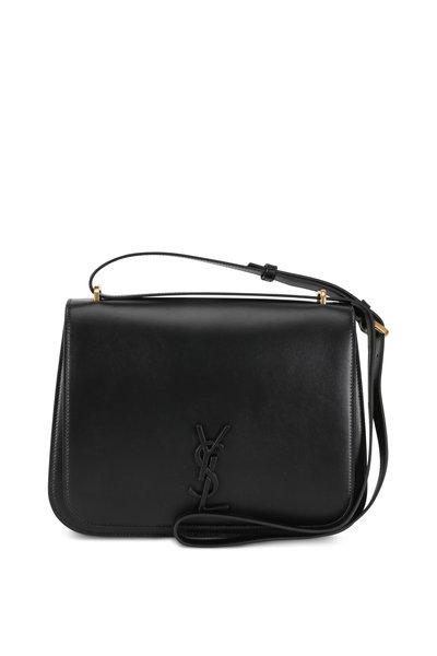 Saint Laurent - Spontini Black Leather Medium Satchel