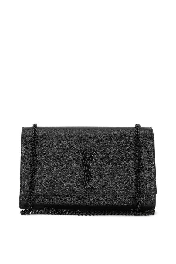 Saint Laurent Kate Monogram Black Chain Shoulder Bag