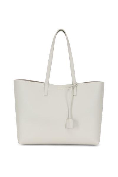 Saint Laurent - Vintage White Leather Large Shopper Tote