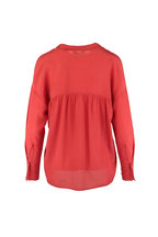 Vince - Adobe Red Silk Blouse