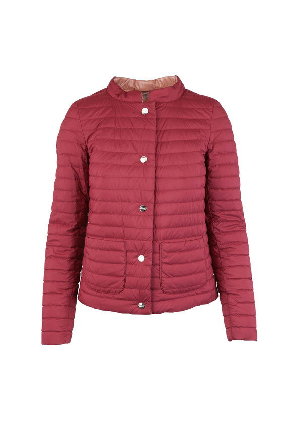 Herno Brick & Blush Reversible Puffer Jacket