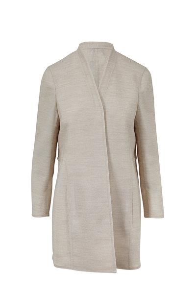 Akris - Blanca Kraft Long Open Jacket